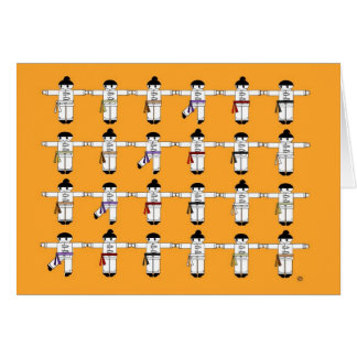 Kung Fu Kick Line Greeting Card
