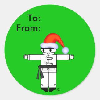 Kung Fu Kicker Christmas Gift Tags