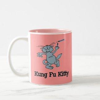Kung Fu Kitty mug