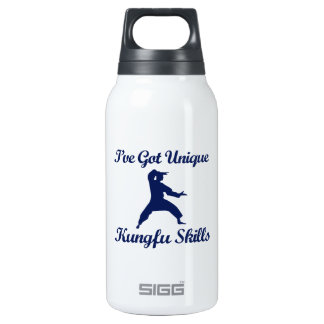 kung fu martial art designs insulated water bottle