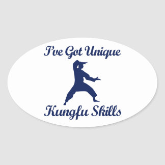 kung fu martial art designs oval stickers