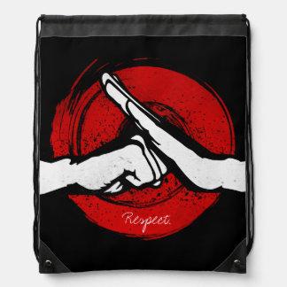 Kung Fu - Martial Arts salute Drawstring Backpack