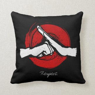 Kung Fu - Martial Arts salute Throw Pillow