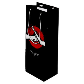 Kung Fu - Martial Arts salute Wine Gift Bag