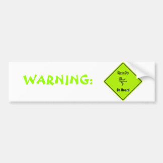Kung Fu On Board Bumper Sticker