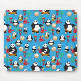 Kung Fu Pandas Blue Pattern Mouse Pad