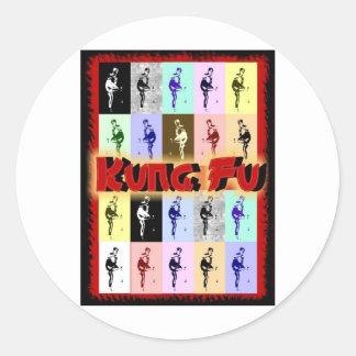 Kung Fu Pegatina Redonda