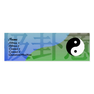 Kung Fu Profile Card Business Card Templates