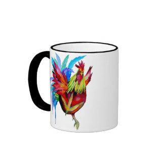 Kung Fu Rooster Ringer Coffee Mug