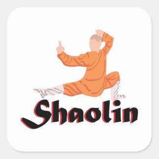 Kung Fu Shaolin Pegatinas Cuadradas Personalizadas