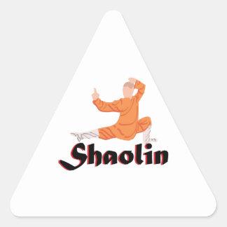 Kung Fu Shaolin Calcomanías Trianguloes Personalizadas