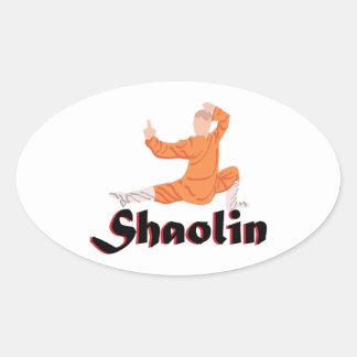 Kung Fu Shaolin Colcomanias Oval Personalizadas