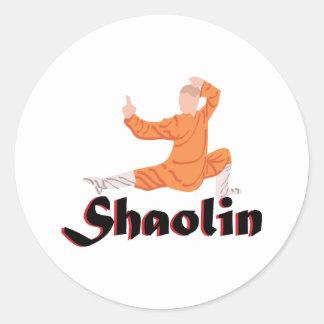 Kung Fu Shaolin Pegatina Redonda