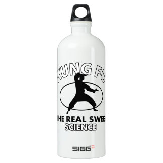 Kung Fu the real sweet science Aluminum Water Bottle