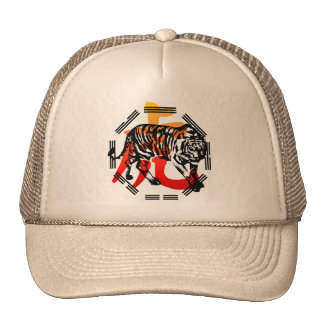 Kung Fu Tiger  and symbol  Hat