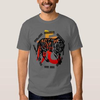 Kung Fu Tiger  and symbol shirt