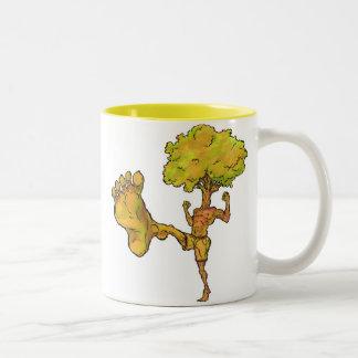 Kung Fu Tree Two-Tone Coffee Mug