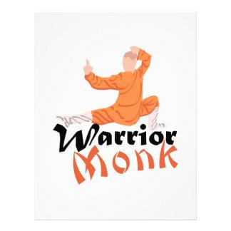 Kung Fu Warrior Monk Personalized Letterhead