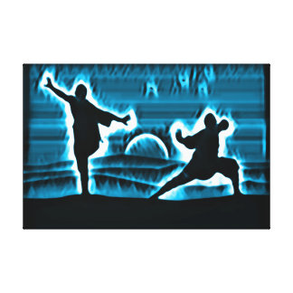 Kung Fu Warrior Spirits Canvas Print