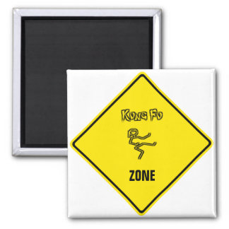 Kung Fu ZONE 2 Inch Square Magnet