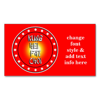 Kung Hei Fat Choi Business Card Magnet
