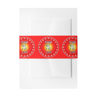 Kung Hei  Fat Choi Invitation Belly Band