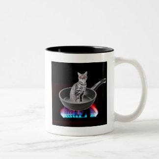 Kung Pao Cat Two-Tone Coffee Mug