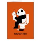Kung Pooh Panda Funny Birthday Card