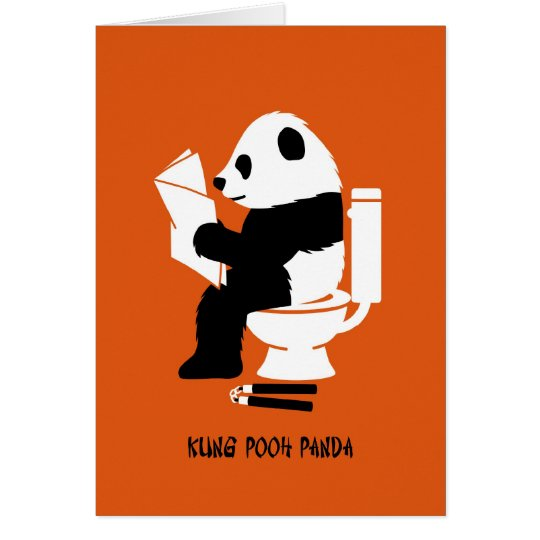 Kung pooh panda funny birthday card zazzle kung pooh panda funny birthday card bookmarktalkfo Image collections
