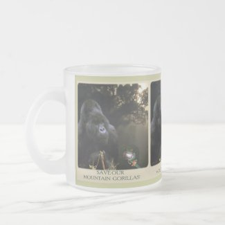 Kunga Mountain Gorilla Wildlife-supporter Mug zazzle_mug