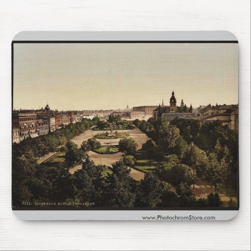 Kungstradgarden, Stockholm, Sweden classic Photoch Mouse Pads