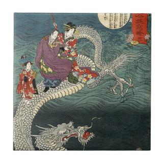 Kunisada II el dragón Azulejos Cerámicos