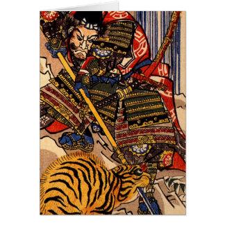 Kuniyoshi 1797-1861, Utagawa, Japan, Tiger Greeting Cards