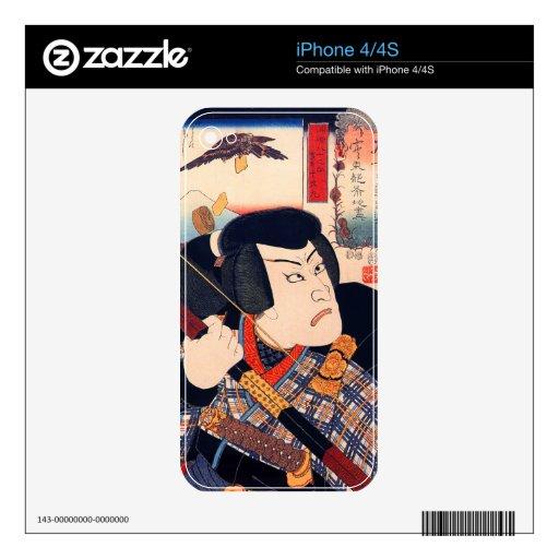 Kuniyoshi el actor iPhone 4 skins