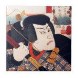 Kuniyoshi el actor tejas  cerámicas