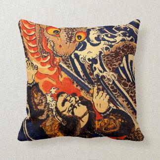 Kuniyoshi Hanagami Danjo no jo Arakage Throw Pillows