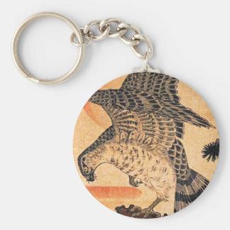 Kuniyoshi Hawk Key Chain