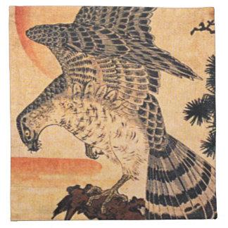 Kuniyoshi Hawk Napkins