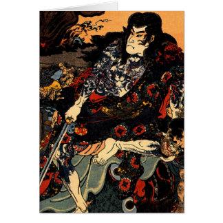 Kuniyoshi Japan  Kyumonryu shinsh Greeting Cards