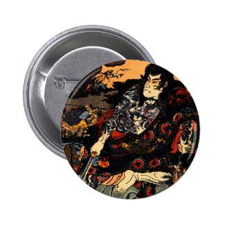 Kuniyoshi Japan  Kyumonryu shinsh Pinback Buttons
