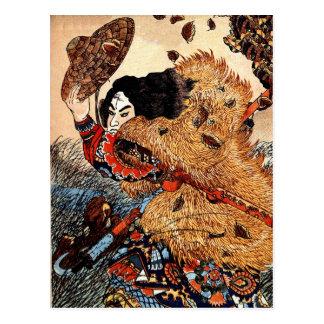 Kuniyoshi Kinhyōshi yōrin, hero of the Suikoden. Post Cards
