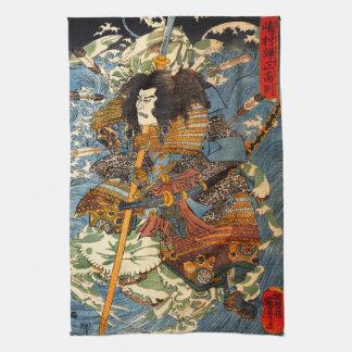 Kuniyoshi Samurai Kitchen Towel