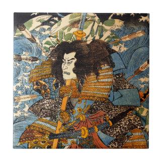 Kuniyoshi Samurai Tile