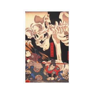 Kuniyoshi Skeleton Canvas Print