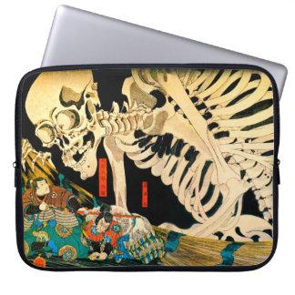 Kuniyoshi Skeleton Summoned by Witch Laptop Sleeves