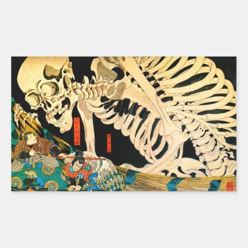 Kuniyoshi Skeleton Summoned by Witch Rectangle Sticker