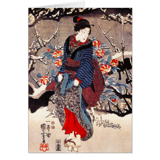 Kuniyoshi Three Women Note Card