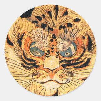 Kuniyoshi Tiger Stickers