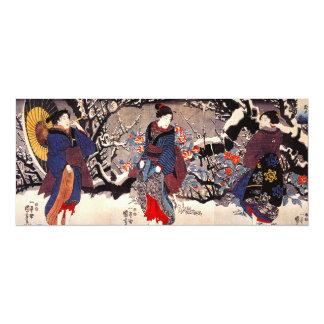 Kuniyoshi tres invitaciones de las mujeres invitación 10,1 x 23,5 cm