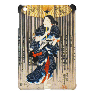 Kuniyoshi tres mujeres con los paraguas iPad mini protectores